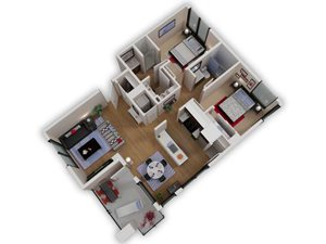 Capitol Yard Apartments_ West Sacramento CA_Floor Plan_Two Bedroom Two Bathroom B5